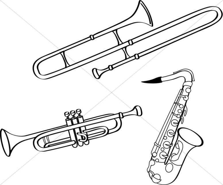 Brass clipart Clipart Church Image  Music