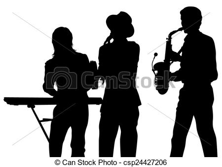 Brass clipart instrumental music Band white clipart on Music