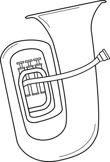 Brass clipart music performance Art and Design Tuba White