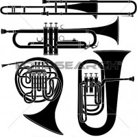 Brass clipart free music Brass on Instruments Free Clipart