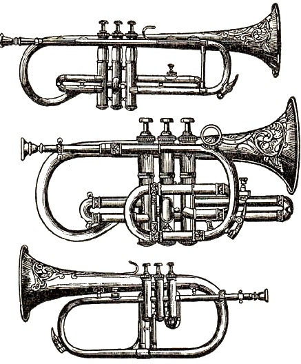 Brass clipart instrumental music Clilpart Sweetly Musical Vintage Sweetly