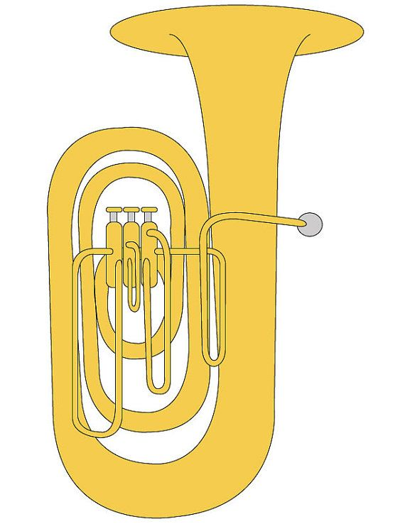 Brass clipart instrumental music Tuba Art Graphic/ Pinterest best