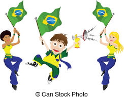 Fans clipart summer concert Brazil  Clip Flag and