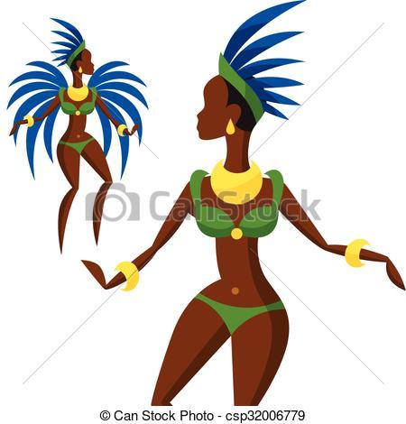 Carneval clipart brazil carnival Brazilian  Illustration dansing of