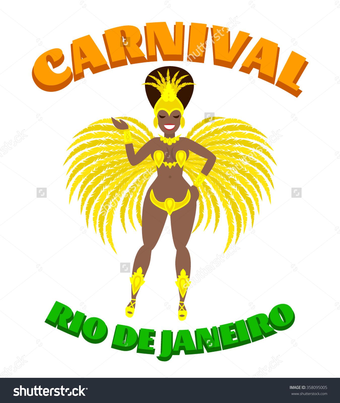 Rio De Janeiro clipart Brazil clipart Carnival Samba Dancer