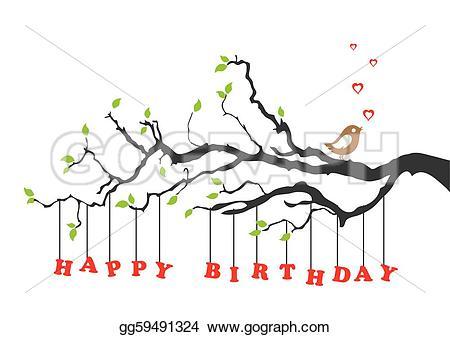 Birthday clipart bird Stock a image Happy gg59491324