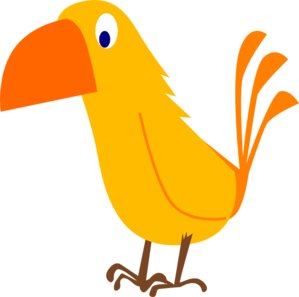 Brds clipart orange Art art Bird Animal Bird