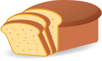 Bread clipart Pictures Size: loaf sliced Food