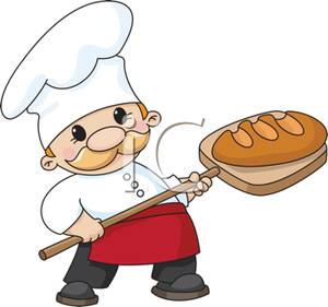 Bread clipart bakery Chef Cute of with Paddle
