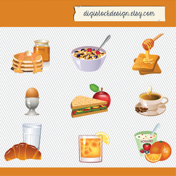 Brownie clipart cafe food Food Set clipart Breakfast Clipart