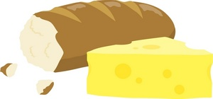 Bread clipart french cheese Of loaf a french
