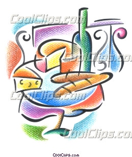 Bread clipart french cheese  wine and Clip French
