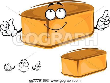 Bread clipart funny Of happy loaf a gg77791692