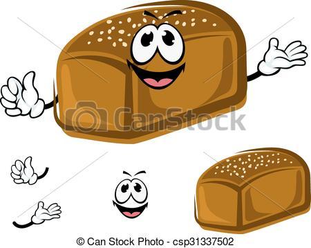 Bread clipart healthy food Rye Cartoon Vector csp31337502 Cartoon