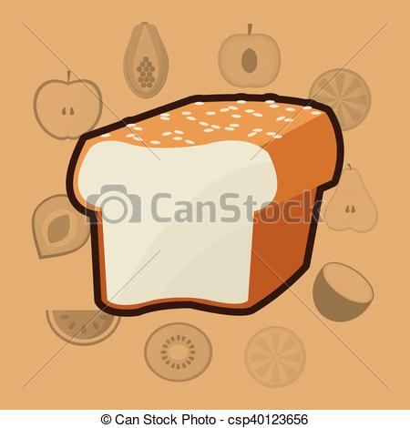 Bread clipart healthy food And icons of Vector Vector