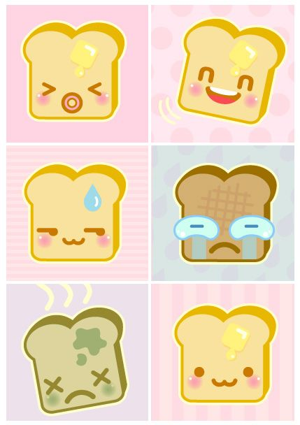 Bread clipart kawaii Clipart Pin Illustrations Pinterest images