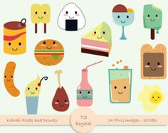 Bread clipart kawaii 10 turquoise clip and 1