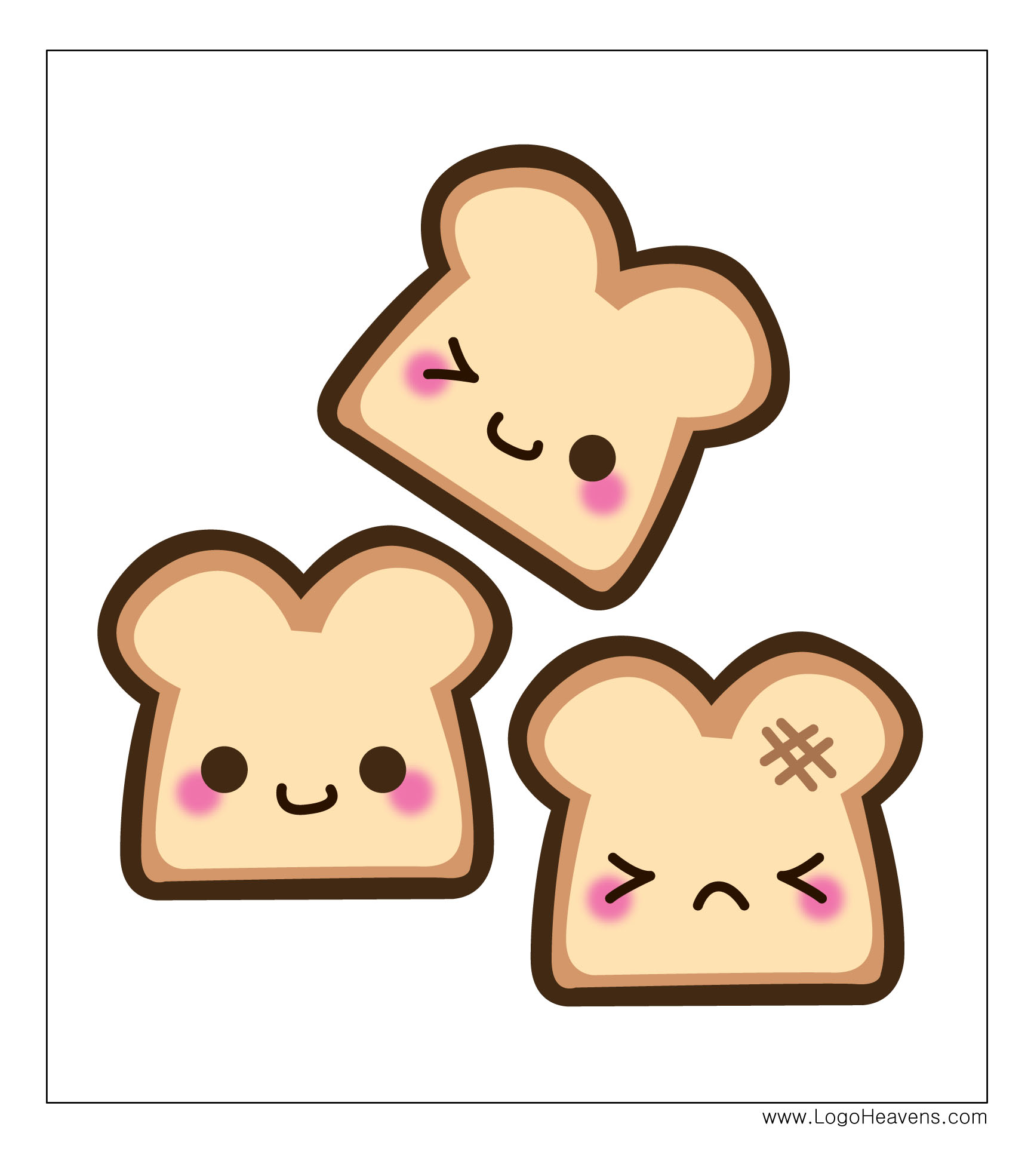 Bread clipart kawaii Free Free Vector & File