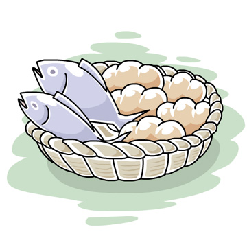 Miracle clipart loaf 2 fish #2