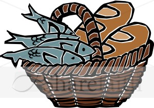 Miracle clipart loaf 2 fish #6