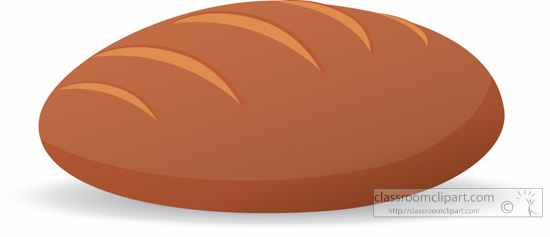 Bread clipart oval : clipart bread Food loaf