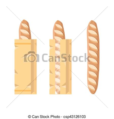 Bread clipart packed Of bag csp43126103 a loaf