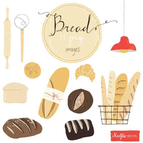 Bread clipart packed Bread 95 on $8 moogbee