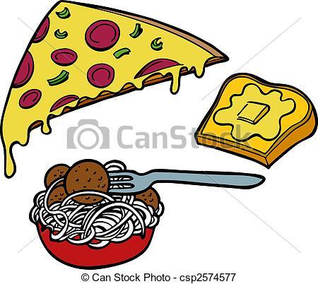 Bread clipart pasta and Italian of Pizza Bread