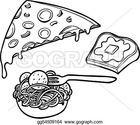 Bread clipart pasta and Bread pizza garlic background and