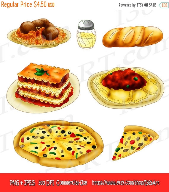 Bread clipart pasta and Hand Clipart Scrapbooking Jpeg Party