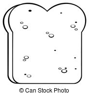 Bread clipart piece bread And white Clipart Bread Vector