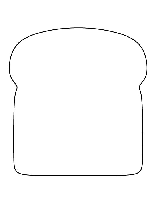 Bread clipart piece bread Printable pattern Free for printable