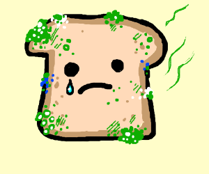 Bread clipart sad (cause moldy bread Moldy crying