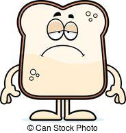 Bread clipart sad Bread illustration Sad of Cartoon