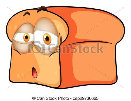 Bread clipart sad Face Art Loaf csp29736665 illustration