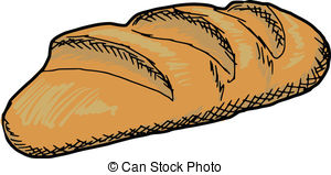 Bread clipart sketch Hand royalty  loaf long