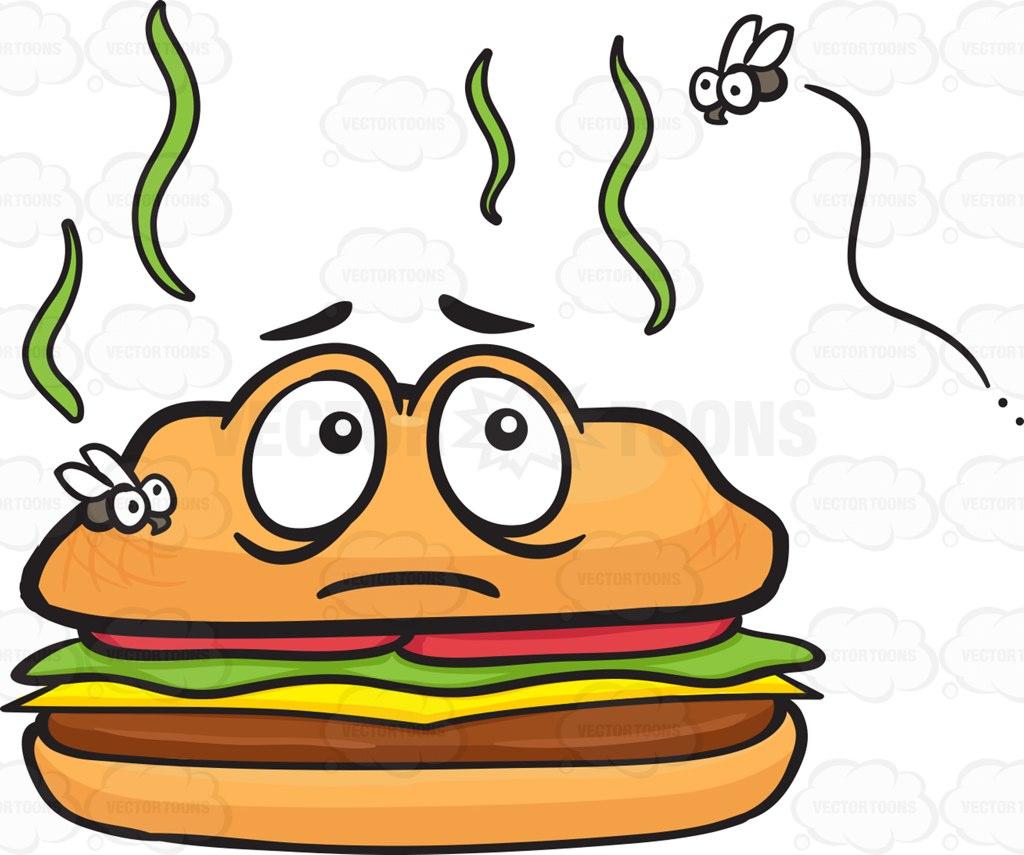 Hamburger clipart beef burger Flies Clipart Cartoon By Cheeseburgers