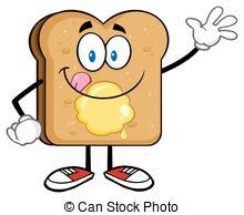 Bread clipart toast bread Happy Illustrations Toast Waving Toast