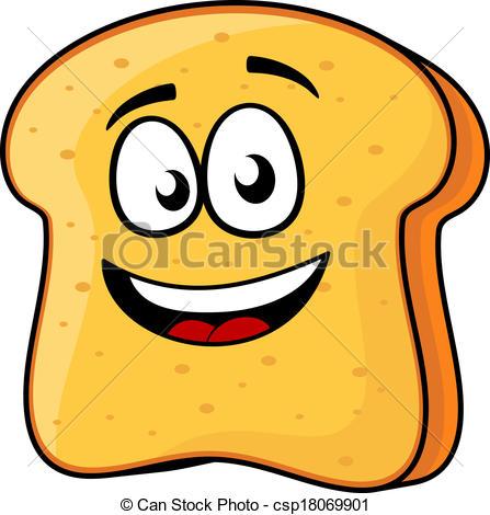 Bread clipart toast bread Of Slice smile csp18069901 toast