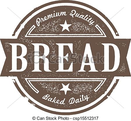 Bread clipart vintage Vector Bread Art Label Baked