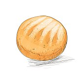 Bread Roll clipart silhouette Download 244 Cute Bread burger