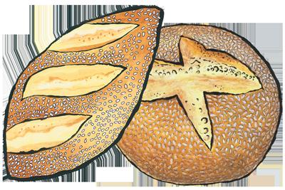 Bread Roll clipart artisan Bakehouse sicilian Zingerman's semolina sesame