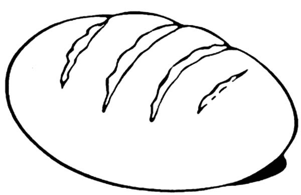Bread Roll clipart coloring page Coloring  of Page Bread