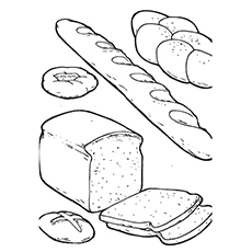 Bread Roll clipart coloring page 10 Pages Yummy  Little