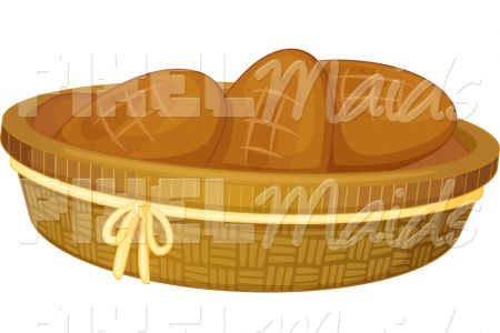 Bread clipart bread roll Basket of of colematt of