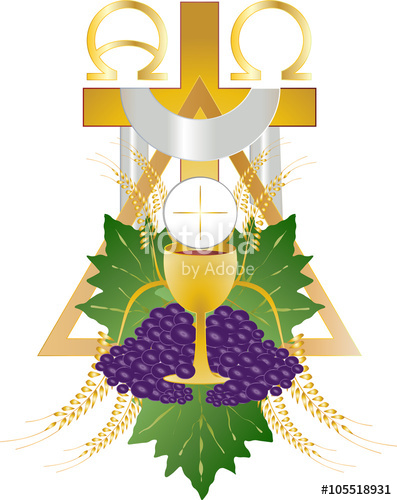 Grape clipart chalice Wreath of bread chalice and