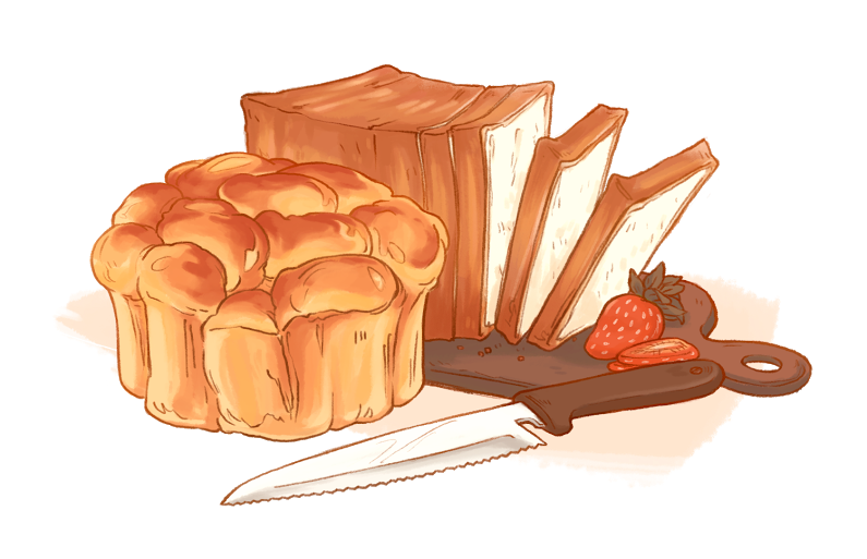 Bread Roll clipart french pastry Baguette presence Korea days in