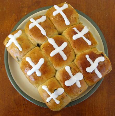 Bread Roll clipart hot cross buns Buns buns cup flour teaspoon