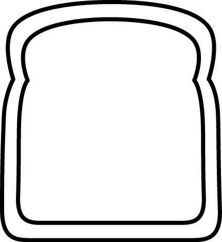 Drawn bread Big Slice and Bread Clip