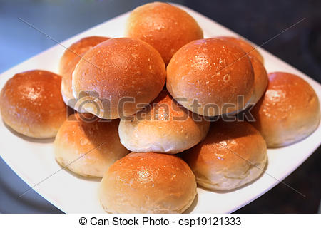 Bread Roll clipart soft  soft of soft line